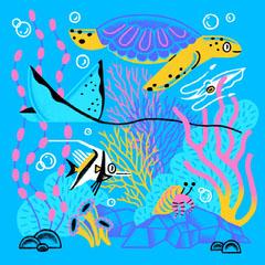 Aquarium Illustration Ocean