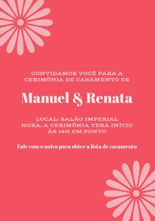 pink wedding cards Cartão de felicitações aos noivos