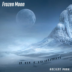 Blue Snowy Mountains and Hikers Album Cover Mountains