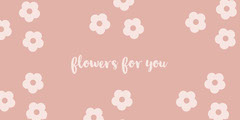 Pink Floral Flower Gift Tag Flowers