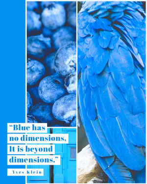 Blue Color Quote, Inspiration and Motivation, Instagram Portrait Motiverende poster