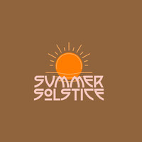 Brown Summer Solstice Instagram Square Graphic with Sun Logo