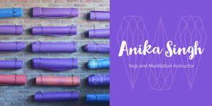 Purple Yoga and Meditation Instructor LinkedIn Banner Yoga Posters