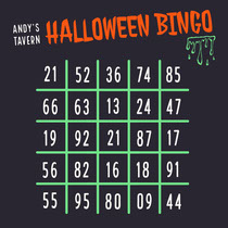 Green Slime Halloween Party Bingo Card Scary