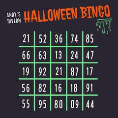 Green Slime Halloween Party Bingo Card Halloween Party Bingo Card