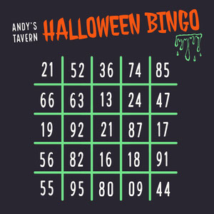 Green Slime Halloween Party Bingo Card Carta da bingo