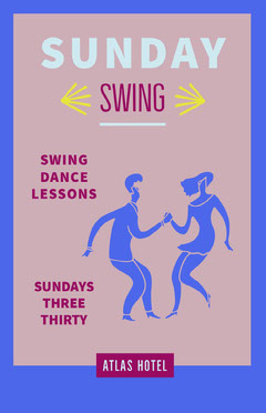 Blue and Claret Dance Lesson Poster Sunday