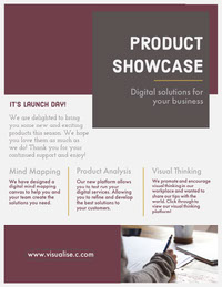 Purple, White and Grey Product Showcase Newsletter Document Newsletter Examples