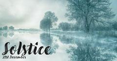 Grey Winter landscape Solstice Facebook Post Lake