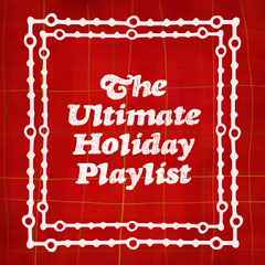 Red and White Plaid Holiday Themed Playlist Cover Holiday Party Flyer