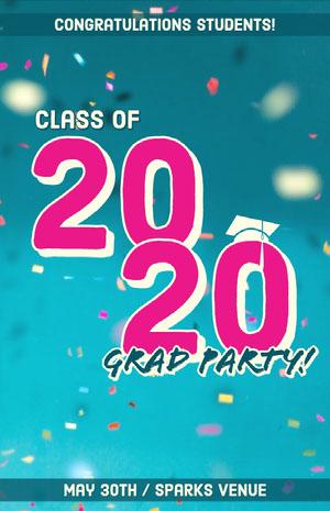 20 Tarjeta de graduación