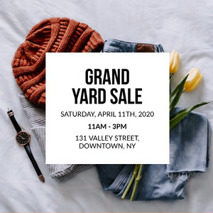 Light Toned Clothing Yard Sale Ad Instagram Post Yard Sale Sign