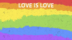 Colorful Rainbow LGBT Pride Zoom Background Rainbow