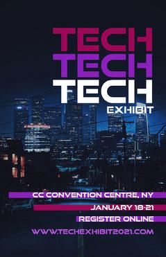 Purple Pink White and Black Robot Tech Exhibit Poster2 Tech