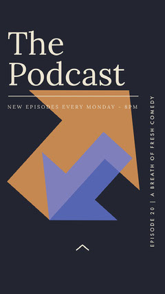 Blue and Orange Arrows Minimal The Podcast Instagram Story Comedy