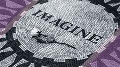 Imagine Desktop Wallpaper with Mosaic Pavement Background