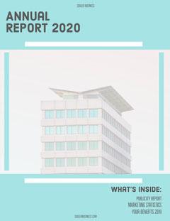 Blue Skyscraper Annual Business Report Architecture