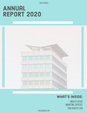 Blue Skyscraper Annual Business Report Rapporto