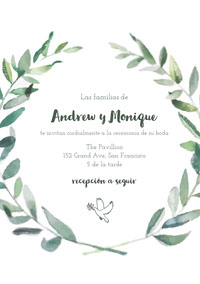 dove wedding cards  Tarjeta