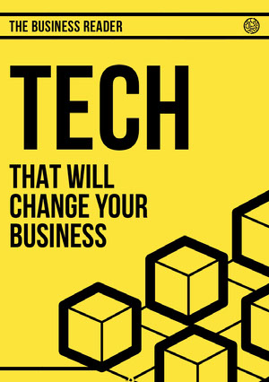 Yellow Modern Cubes Tech Business Magazine Cover Magazin-Titelseite