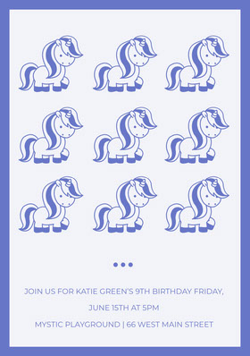 JOIN US FOR KATIE GREEN'S 9TH BIRTHDAY FRIDAY, JUNE 15TH AT 5PM <BR>MYSTIC PLAYGROUND | 66 WEST MAIN STREET  Invito al compleanno