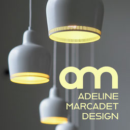 Yellow and grey Lamps Design Logo
