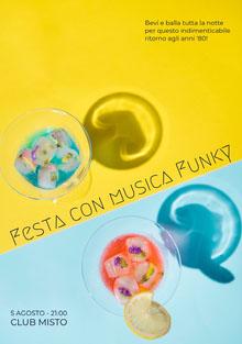 Festa con musica Funky Invito