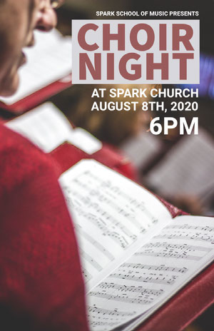 CHOIR NIGHT Poster di concerto