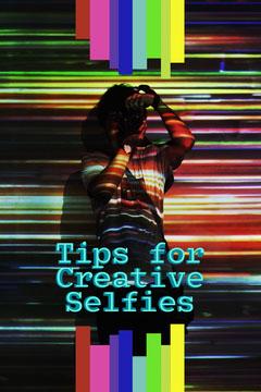 Multicolor Stripes Creative Selfie Tips Pinterest Post Neon