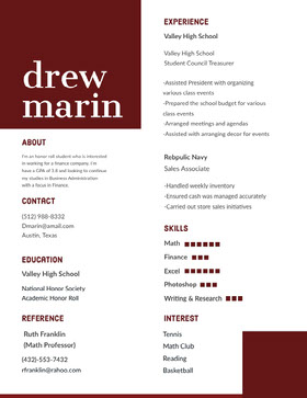 Brown and White Person's Resume Modern Resume