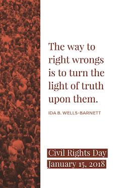 Brown and White Civil Rights Day Speaker Instagram Story  Speaker
