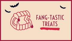 Fang Tastic Halloween Gift Tag Halloween Gift Tag