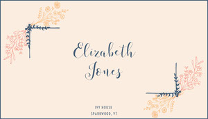 floral frame wedding place card  Paikkakortit
