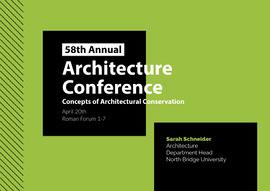 Architecture  <BR>Conference  Carte postale