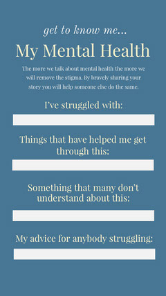 mental healthy igstory Health Posters