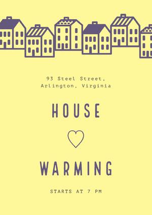 HOUSE<BR>♡<BR>WARMING Housewarming Invitation