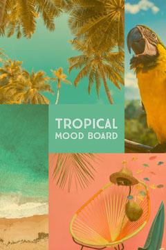 TROPICAL<BR>MOOD BOARD Pinterest