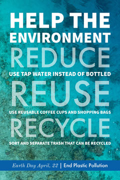 Green and Blue Environmental Conservation Earth Day Flyer Earth