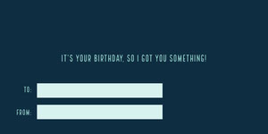 Blue and Navy Blue Birthday Card Etiqueta de regalo