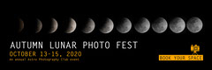 Black and Orange Autumn Lunar Photography Festival Horizontal Web Banner Event Banner