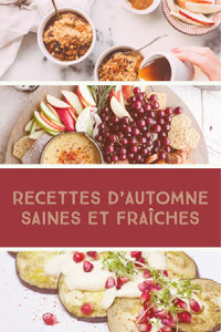 RECETTES D'AUTOMNE SAINES ET FRAîCHES Collage de fotos