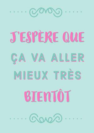 pink and blue hope you get well soon cards Carte de bon rétablissement