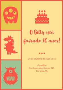 O Billy está fazendo 10 anos! Convite