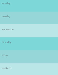 Blue Personal Weekly Planner Lifestyle