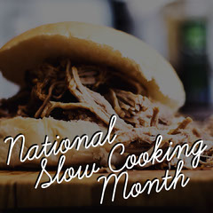 Dark National Slow Cooking Month Instagram Square Burger