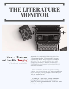 THE LITERATURE MONITOR Political Flyer