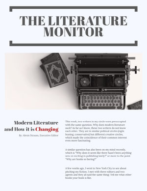 THE LITERATURE MONITOR Newsletter