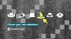 Grey and White Adventure Banner Adventure