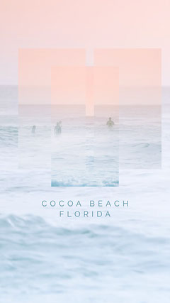 Pink Blue Cocoa Beach Surf Instagram Story  Surfing