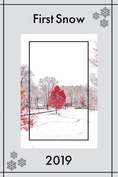 Gray Snowflake Frame First Snow Pinterest Graphic Frame